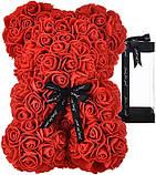 Ведмедик Тедді з 3D троянд Ведмедик з троянд 25 см червоний в оригінальній упаковці Подарунковий Ведмедик з, фото 5