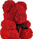 Ведмедик Тедді з 3D троянд Ведмедик з троянд 25 см червоний в оригінальній упаковці Подарунковий Ведмедик з, фото 6