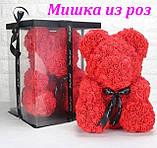 Ведмедик Тедді з 3D троянд Ведмедик з троянд 25 см червоний в оригінальній упаковці Подарунковий Ведмедик з, фото 8