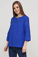 Красивая женская вышиванка синяя ЕтноМодерн M-232-8