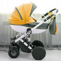 Чехлы на колеса универсальной коляски, 2 маленьких и 2 больших колеса. (Roxy)