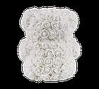 Мишко з 3D троянд 25 см білий, фото 5