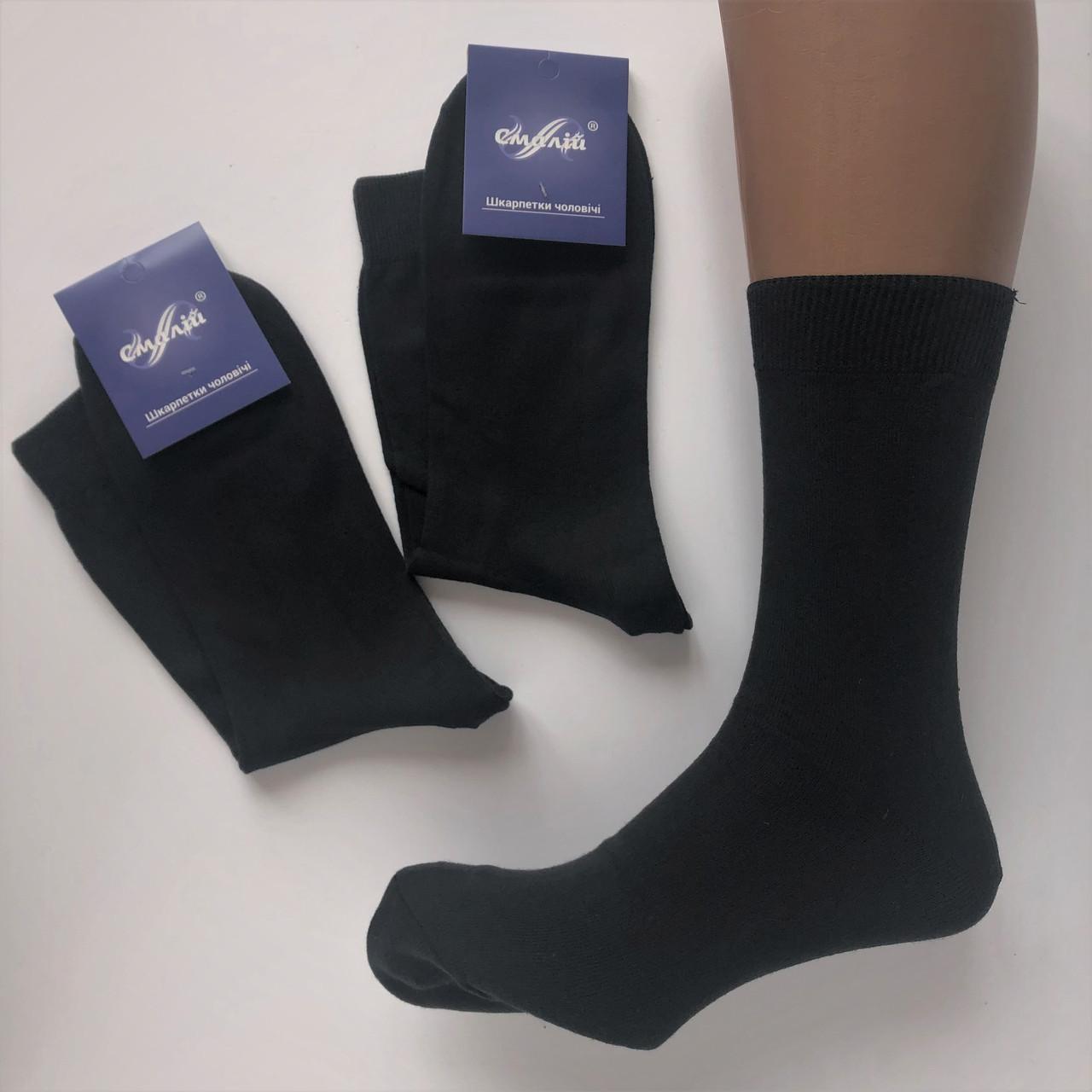 Чоловічі демисезонні шкарпетки Смалій х/б 31