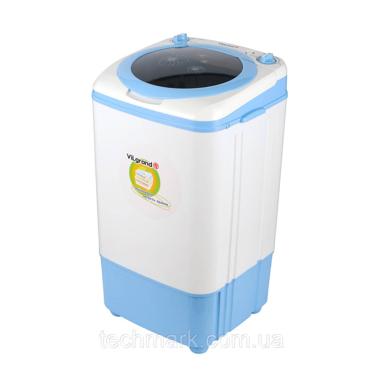 Стиральная машина полуавтомат VILGRAND V701S белая с голубым (7 кг,съемная центрифуга)