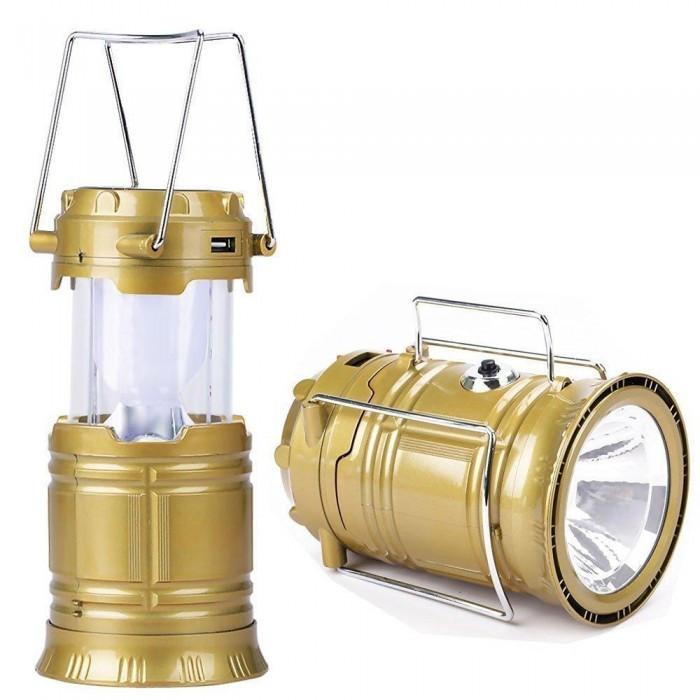 Кемпинговая LED лампа JH-5800T c POWER BANK, Золотой
