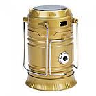 Кемпинговая LED лампа JH-5800T c POWER BANK, Золотой, фото 2