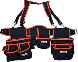 Пояс с 2 накладными сумками с карманами для инструментов YATO 1280 мм