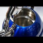 Чайник Giakoma G-3301 для газових і електричних плит, Синій, фото 3