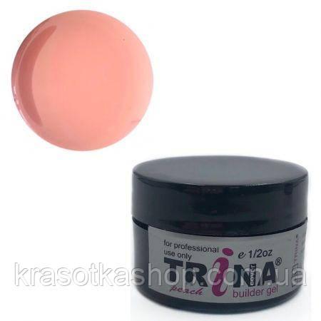 TRINA Гель камуфлює персиковий peach cover builder gel, 14г