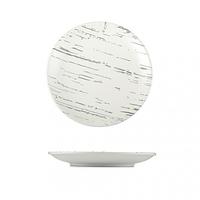 Тарелка круглая светлый камень 18,5 см