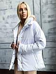 Коротка шкіряна куртка під пояс об'ємна з коміром стійкою (р. 42-46) 501582, фото 2