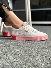 Puma Cali White/Pink (белые/розовые)