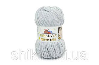 Пряжа велюрова Dolphin Baby, колір Срібло (світло сірий)