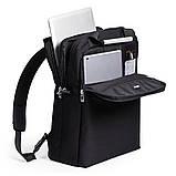 """Рюкзак с отделением для ноутбука """"AIRLINE 15"""", черный, фото 4"""