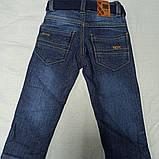 Джинсы демисезонные модные красивые оригинальные синего цвета для мальчика., фото 2