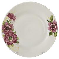 """Тарелка обеденная """"Цветущий шиповник"""" (22.5 см.)"""