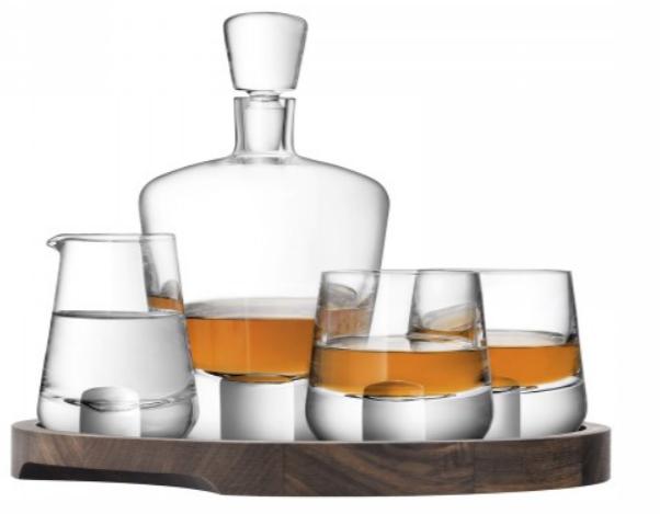 """Набір для віскі """"Whisky Cut"""" на дерев'яній підставці 900 мл + 250 мл"""