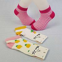 """Шкарпетки для дівчинки №7-8 """"Moni life"""", Ананас / смужки"""