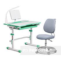 Комплект растущая парта Cubby Fressia Green+эргономичное кресло FunDesk Pratico Grey, фото 2