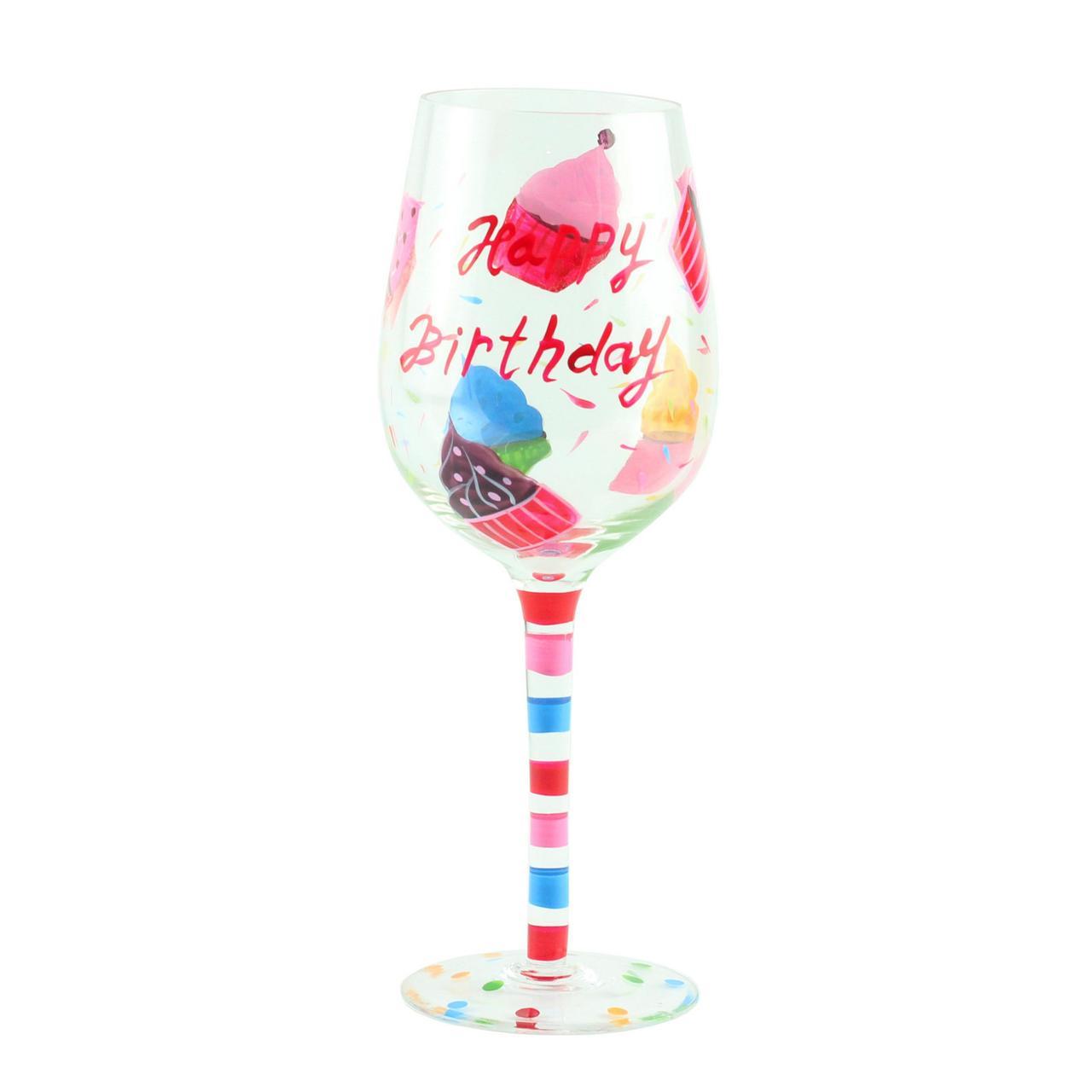 """Келих для вина """"Happy Birthday кекс"""", скло, 160 мл"""