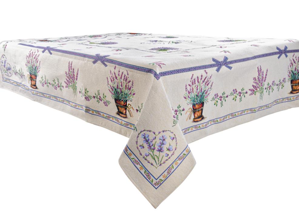 """Скатертина святкова гобеленова """"Lilac"""" ТМ Lеfard, розмір 140х220 см"""