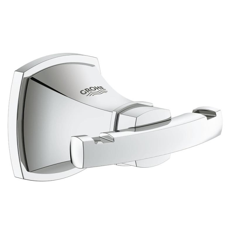 Крючок в ванную настенный двойной GROHE Grandera 40631000 хром металл 76651