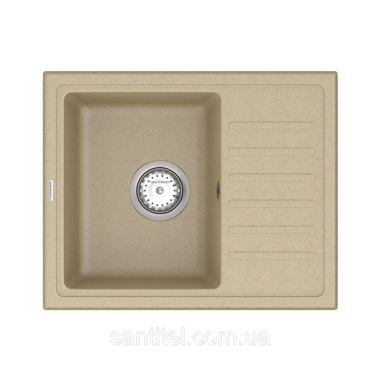 Кухонная мойка VANKOR Lira LMP 02.55 Safari + сифон VANKOR