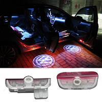 Универсальная Подсветка дверей с логотипом авто Volkswagen VW Passat/Phaeton/Touareg/GOLF/Jetta