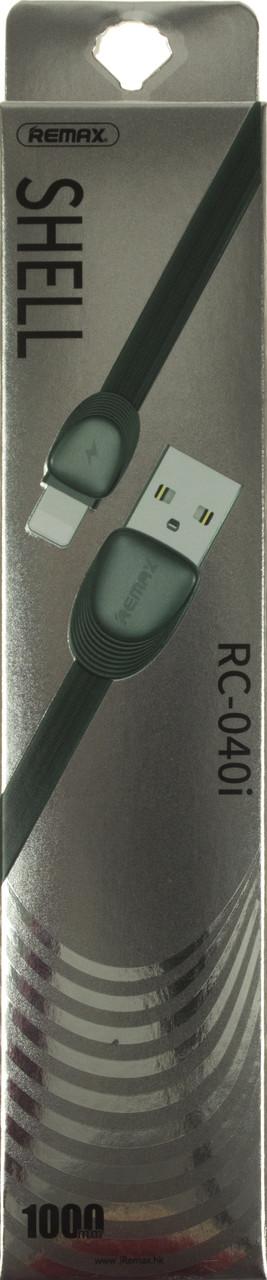Кабель з'єднання (USB 2,0 AF>iPhone5s) Remax Shel RC-040i original black 1м