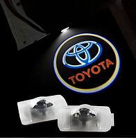Штатная Подсветка дверей с логотипом авто TOYOTA (Тойота). Подсветка в двери led