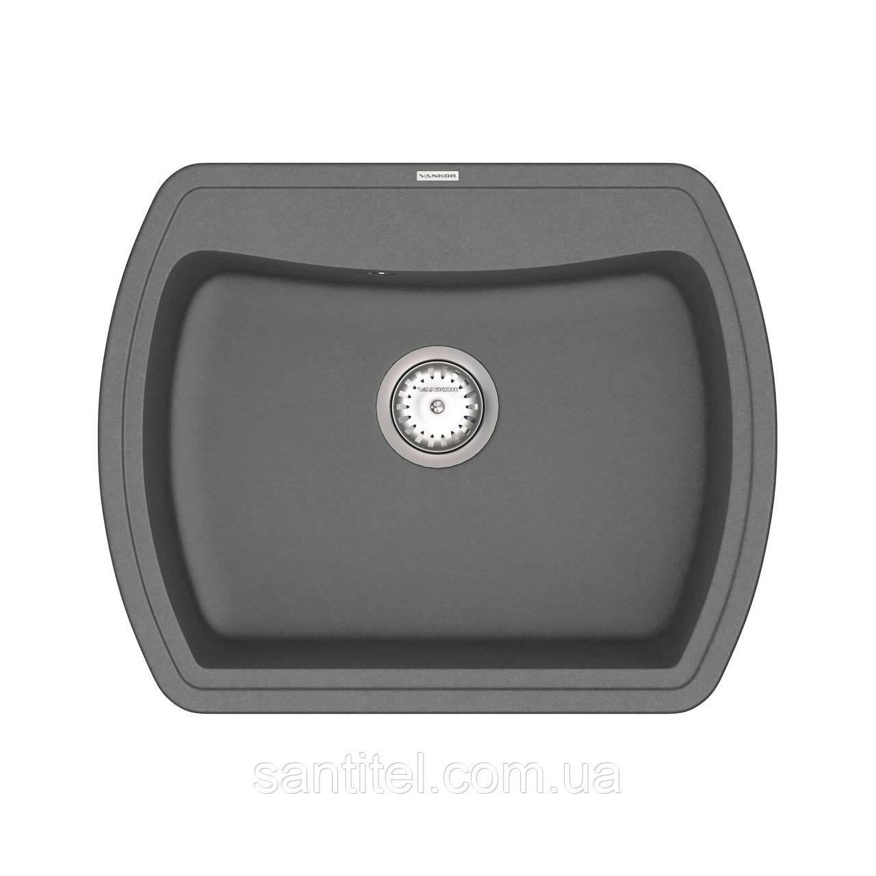 Кухонная мойка VANKOR Norton NMP 01.63 Gray + сифон VANKOR