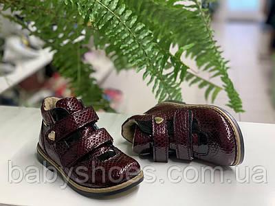 Кожаные деми ботинки для девочки,FESS р.26. мод.011-1
