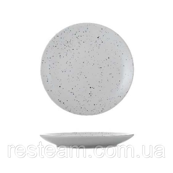 Тарелка керамика 7,5 мелкая гранит светлый