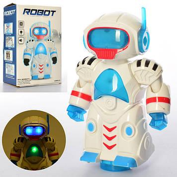 Робот 19см,на бат-ці,муз.,світ.,їздить,в кор-ці,14х20х8см №FX2867(48)