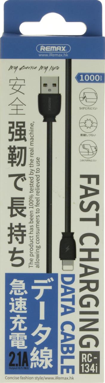 Кабель з'єднання (USB 2,0 AF>iPhone5s) Remax FAST RC-134i original black 1м №5204