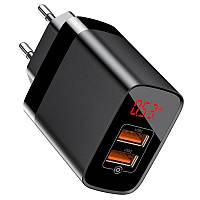 Универсальное зарядное устройство Baseus Mirror Lake BS-E912 от сети для USB-устройств на 2 порта