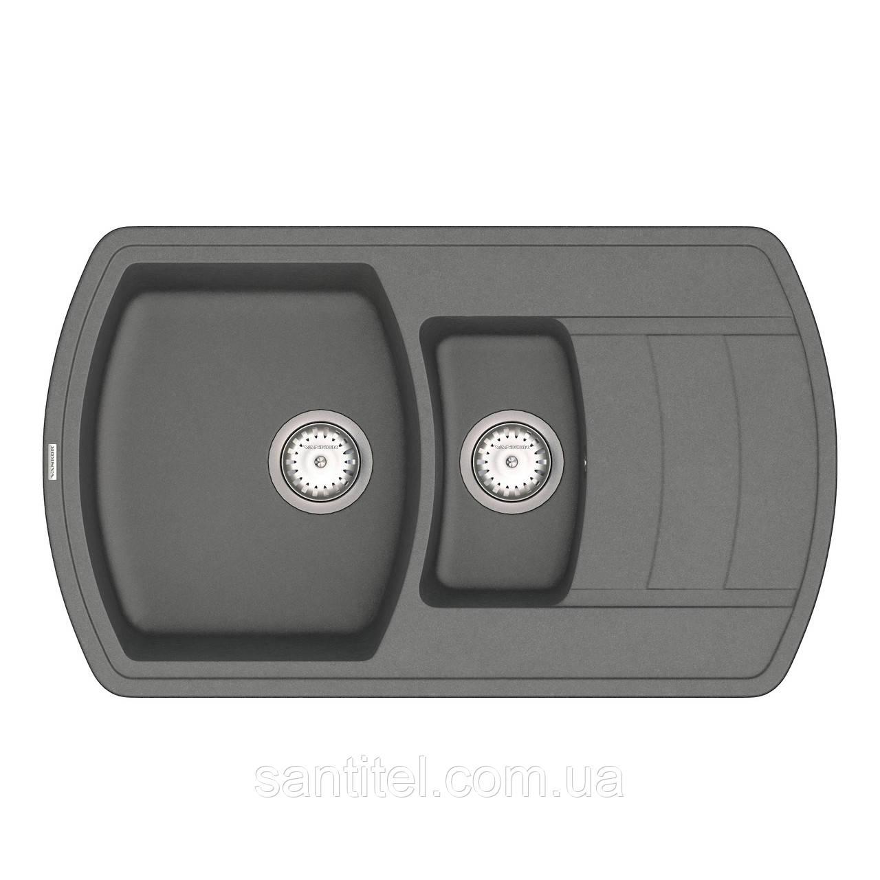 Кухонна мийка VANKOR Norton NMP 04.86 Gray + сифон VANKOR