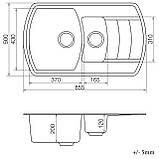 Кухонна мийка VANKOR Norton NMP 04.86 Gray + сифон VANKOR, фото 5
