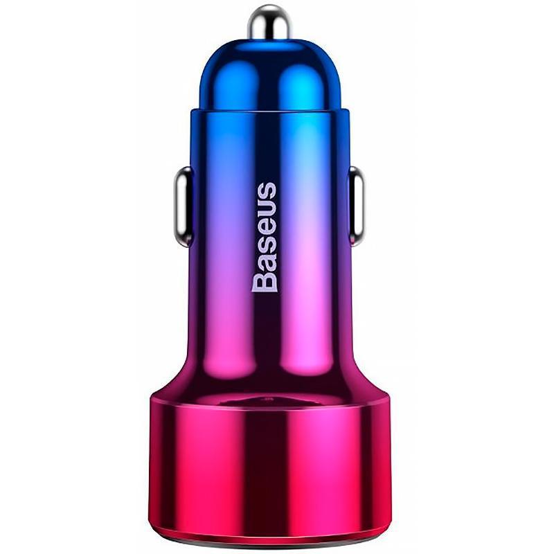 Автомобильное зарядное устройство Baseus Magic Series QC with Display +Type-C CCMLC2OC-09 Red