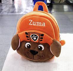 """М*який дитячий рюкзак """"Щенячий патруль"""" (Zoom)"""