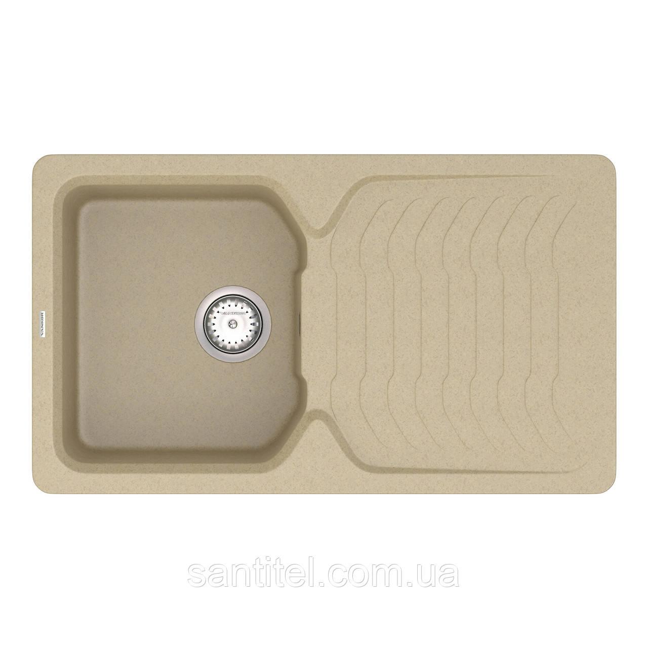 Кухонная мойка VANKOR Sigma SMP 02.85 Safari + сифон VANKOR
