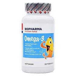 Детский рыбий жир капсулах c витаминой д и е ,  Норвегия, Biopharma, 120 шт.