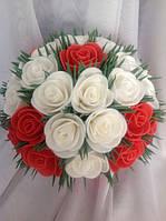 Светильник ночник Букет белых и красных роз на 8 Марта Оригинальный подарок ручной работы, фото 1