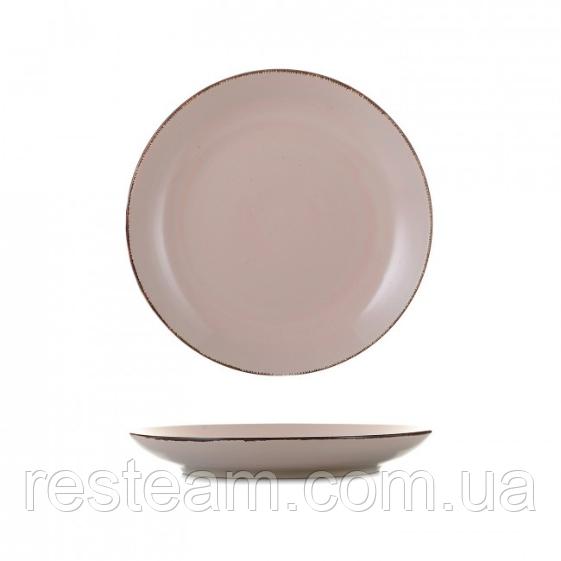 Тарелка керамика 7,5 мелкая глазурь пудра