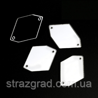 Дзеркальні пришивні стрази. Космік. З/С. 25х35 Silver.