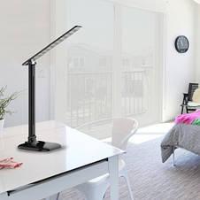 Светильник светодиодный настольный Feron DE1725 9W 4000K черный (29860), фото 3