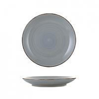 Тарелка керамика 7,5 мелкая глазурь графит