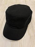 Кепка-немка взрослая мужская х/б размер, черного цвета