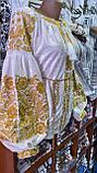 ВЕЛЮРОВА жіноча вишиванка в золоті💥💛⚜️, фото 4