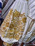 ВЕЛЮРОВА жіноча вишиванка в золоті💥💛⚜️, фото 10